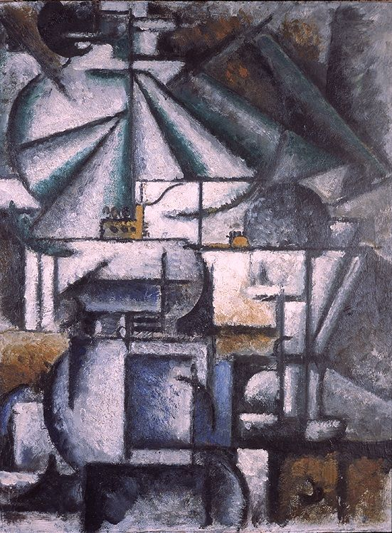 Ardengo Soffici, Deconstruction of the Planes of a Lamp, 1912-1913