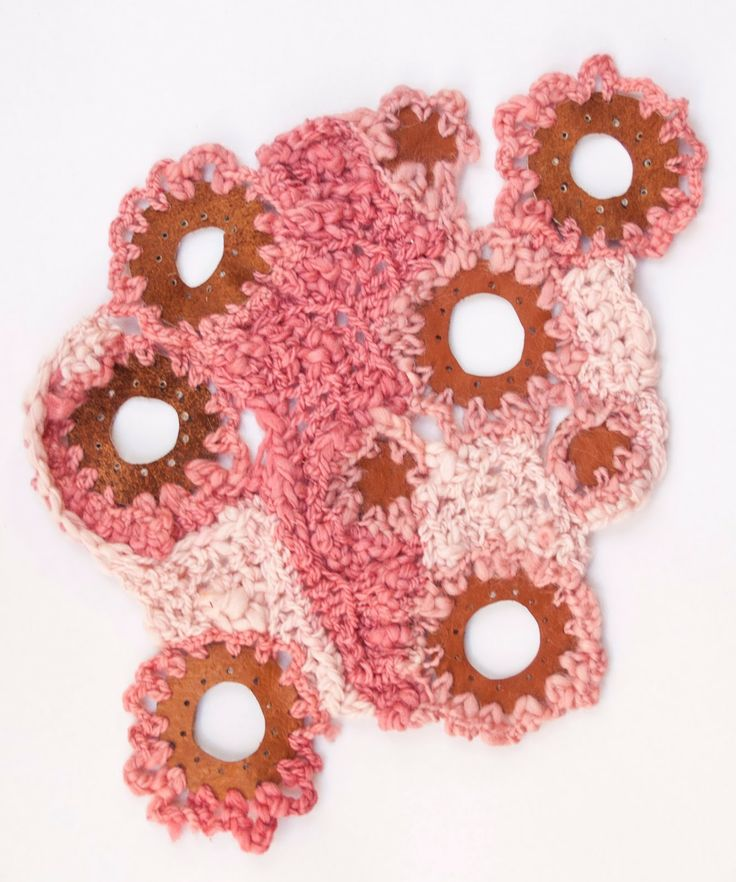 Diseño textil UBA Crochet Cuero de chancho