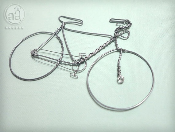 time to get onto the pedals again. celebrate with this BICYCLE Wire Art  Hand Sculpted Detailed Wire Bike