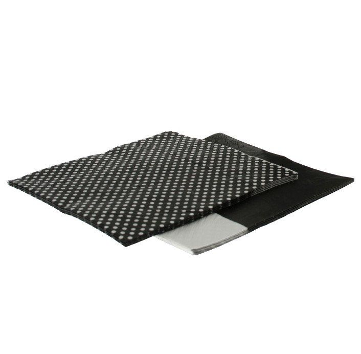 Napkins - Black Dot/Splice.  Available at www.theprettybaker.co.nz