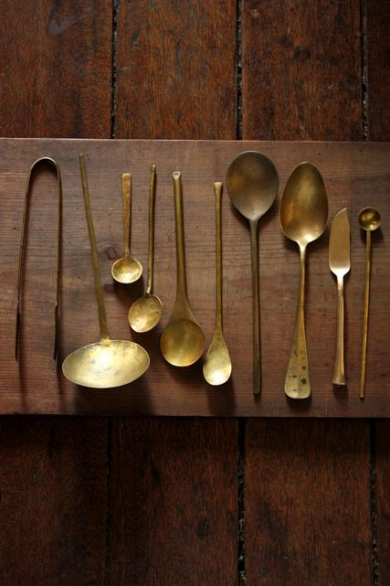 Brass Spoon Collection. Love the simple design.