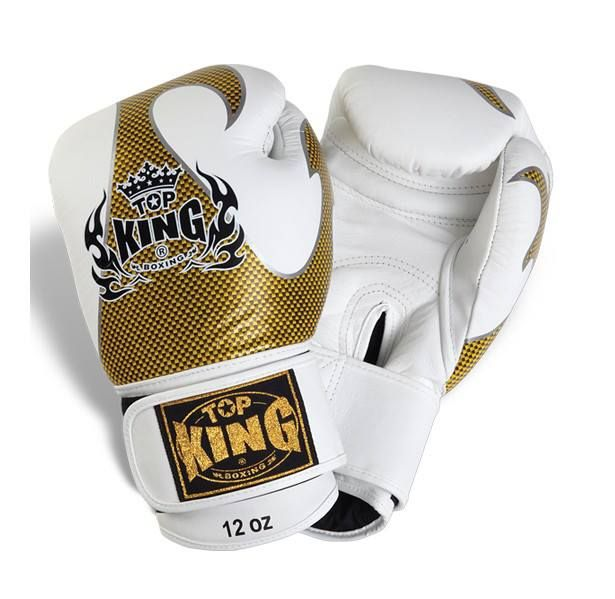 """Top King White Boxing Gloves """"Empower"""" available from http://www.topking.eu"""