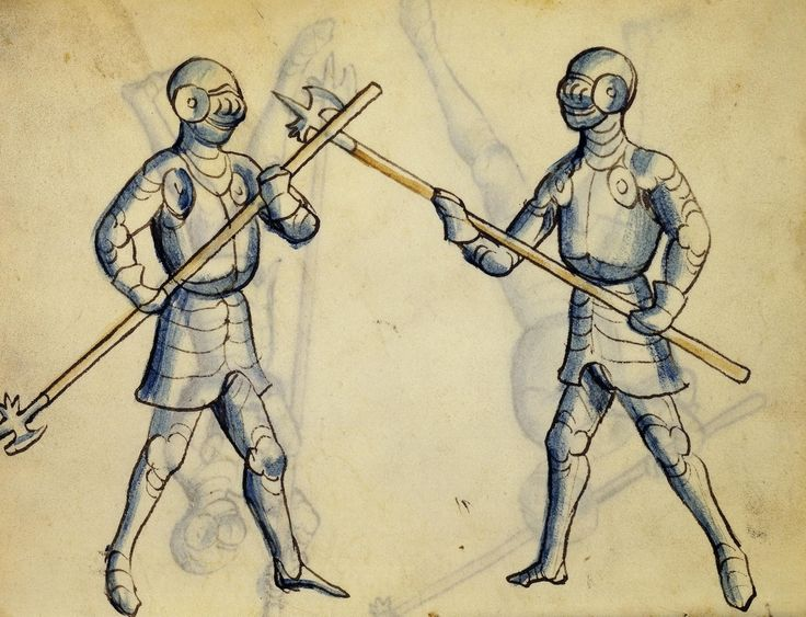 Cod. 11093, 38v: Book on Swordsmanship and Wrestling, mid-15th c. Austrian National Library, Public Domain