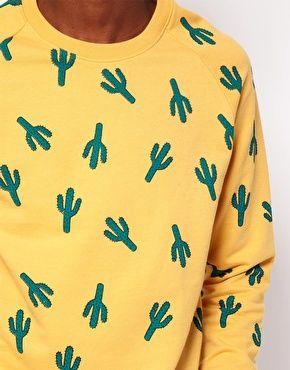 ASOS Sweatshirt With Cactus Print @Nicholas Seymore Wooller