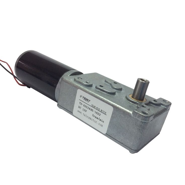 High Torque Electric 12V DC Gear Motor Reversible Low Speed 3 RPM with 8mm Out Shaft