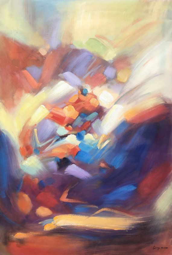 Original Abstract Painting Large Abstract by GeorgeMillerArt