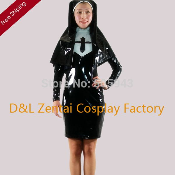 Like and Share if you want this  Free Shipping DHL Wholesale Sexy Elegant Black Nun PVC Zentai Suit Dress Zipper Party Halloween Cosplay Costume     Tag a friend who would love this!     FREE Shipping Worldwide     Buy one here---> http://oneclickmarket.co.uk/products/free-shipping-dhl-wholesale-sexy-elegant-black-nun-pvc-zentai-suit-dress-zipper-party-halloween-cosplay-costume/