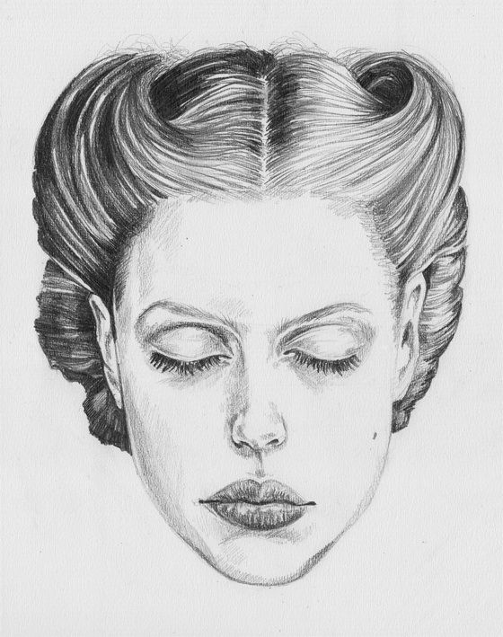 Fashion Illustration, Portrait, Pencil