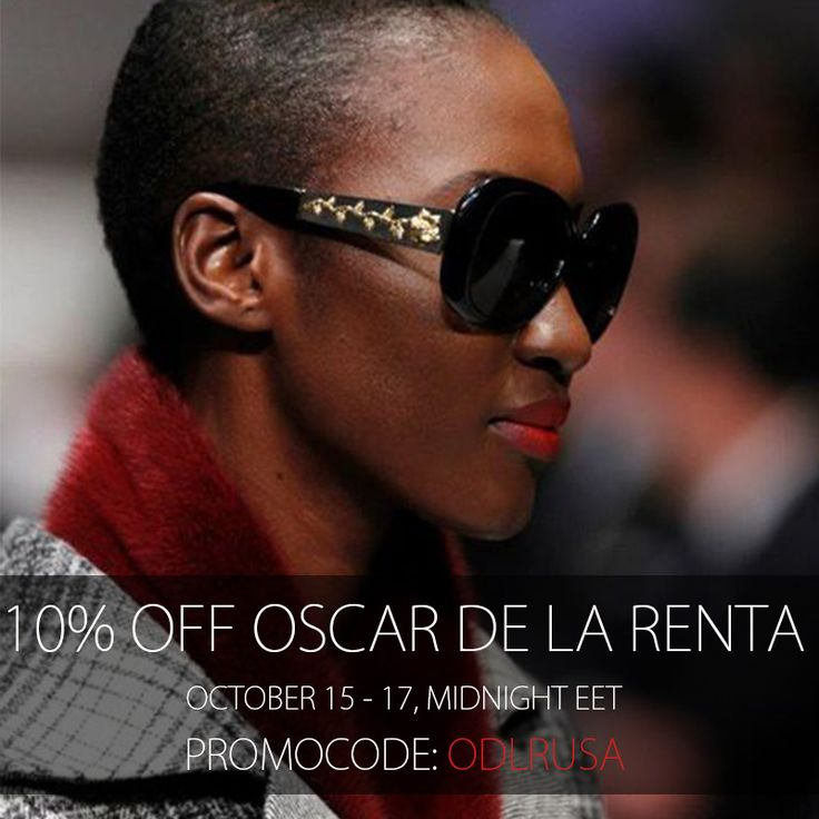 For 2 days only, you get to shop your very own Oscar de la Renta pair of sunglasses with 10% OFF! Use this promocode: ODLRUSA at www.sunglasscurator.com