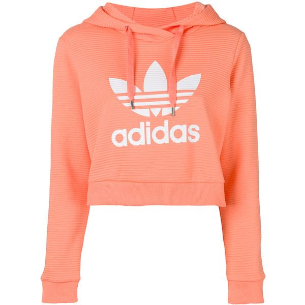 Adidas Trefoil cropped hoodie ($97) ❤ liked on Polyvore