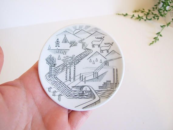 Vintage little Norrland plate // Rörstrand collector's