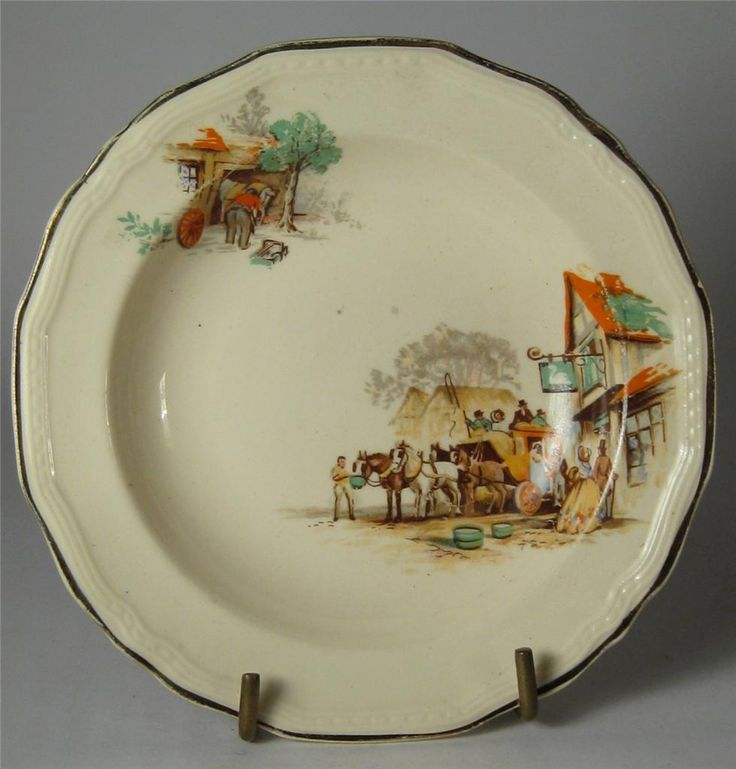Alfred Meakin Horse & Carriage Trinket/Pin Dish