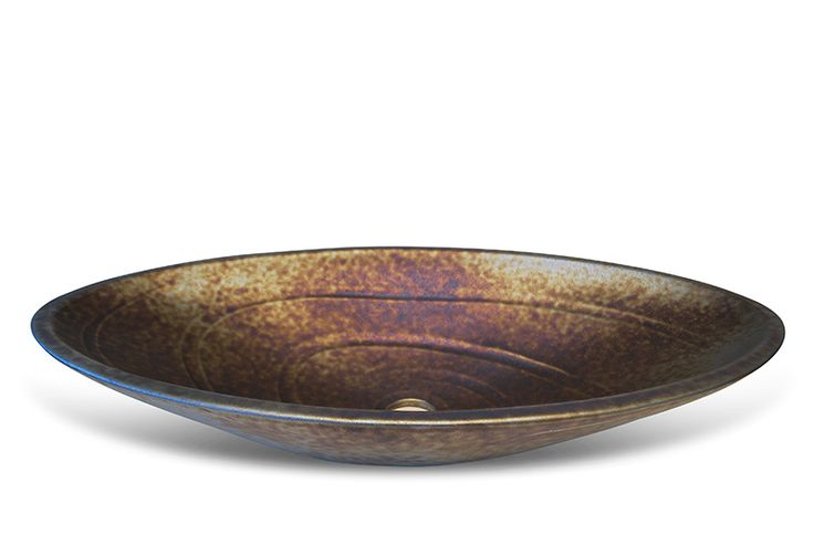 handmade glazed washbasins - metallic