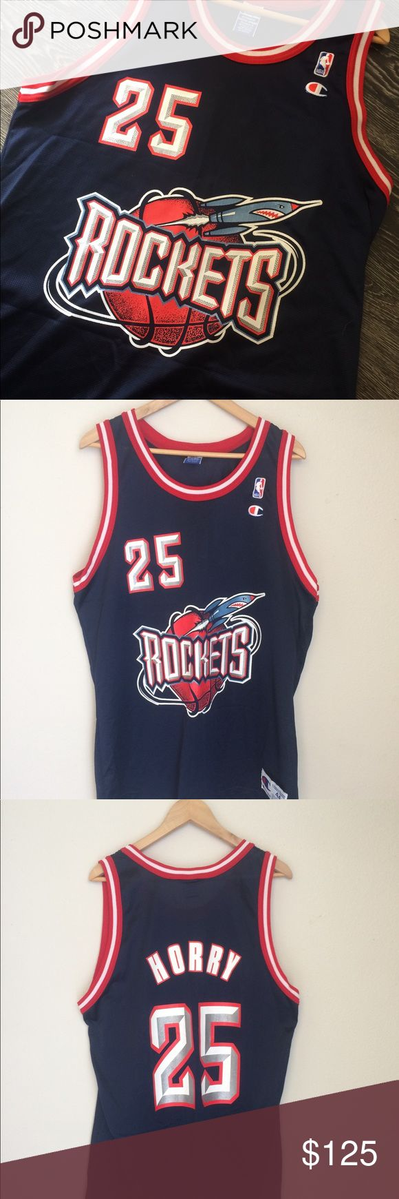 Vintage Houston Rockets Jersey Robert Horry True vintage 90's Robert Horry Rockets Jersey by Champion | 10/10 condition | Men's size large (44) | No flaws whatsoever | Rare find | No offers and or trades will be accepted | Price is firm | Champion Shirts Tank Tops