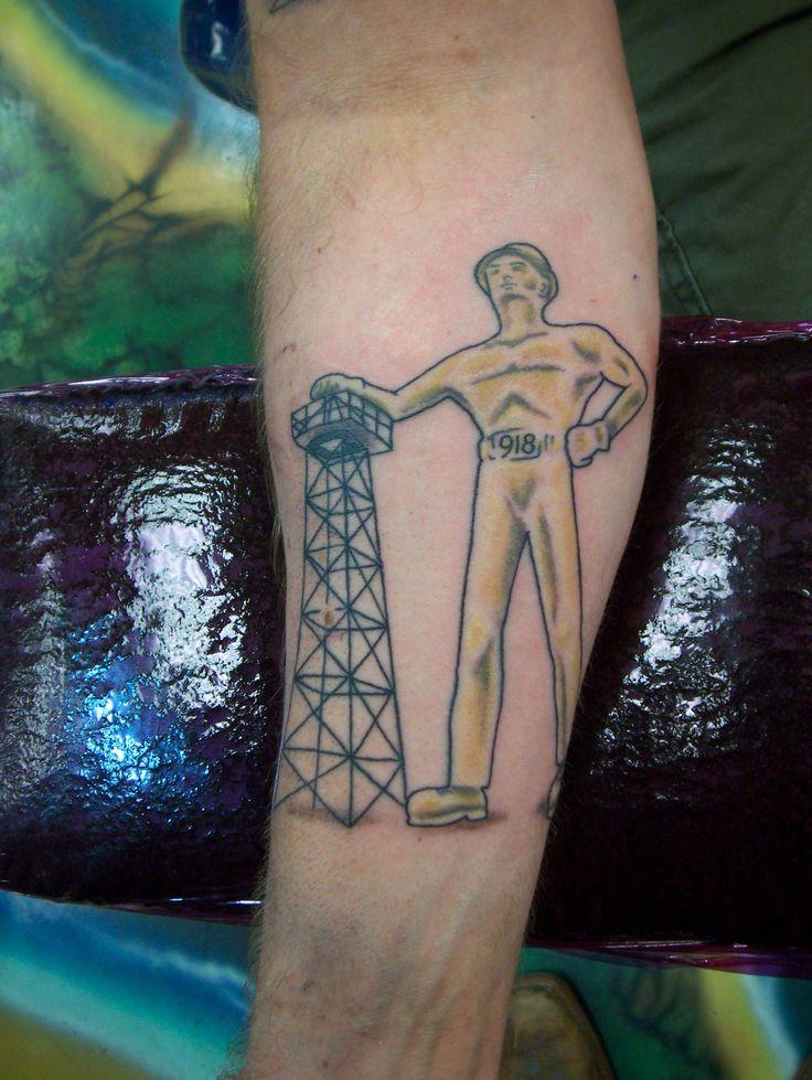 Rev tulsa tattoo co golden driller tulsa pride tattoo for Tattoos in tulsa