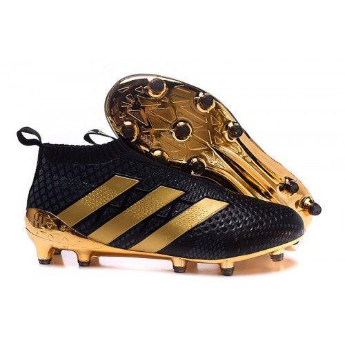 Comprar Sala 2016 Adidas Negro Oro ACE 16 Purecontrol FG AG Botas De Futbol…