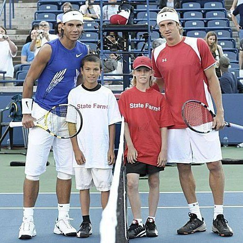 "729 Likes, 6 Comments - Tennis Legend (@tennislegend) on Instagram: ""@rafaelnadal, Igor Andreev and the young @denis.shapovalov at the Coupe Rogers in 2008.…"""