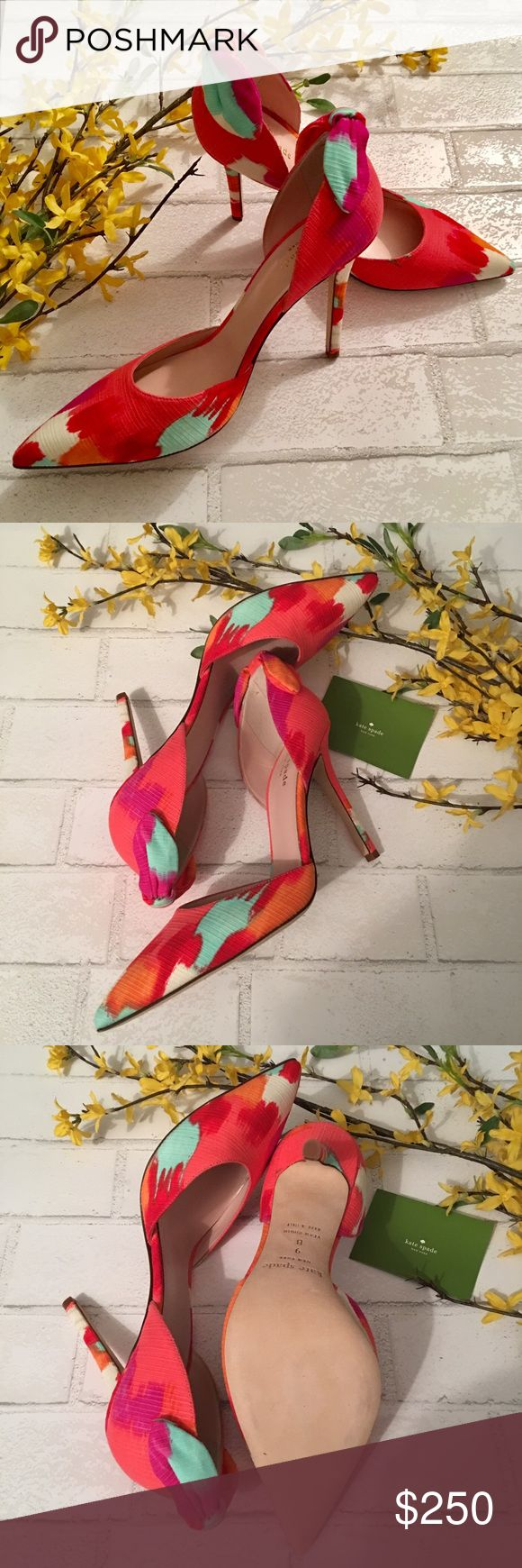 Kate Spade Lula Water Color Heels NIB Kate Spade Lula Water Color Heels NIB. Size 9. Comes Brand new in box with original packing and dustbag. Never worn in perfect condition. All pictures taken by me of the actual shoes. Price is Firm Unless Bundled. kate spade Shoes Heels