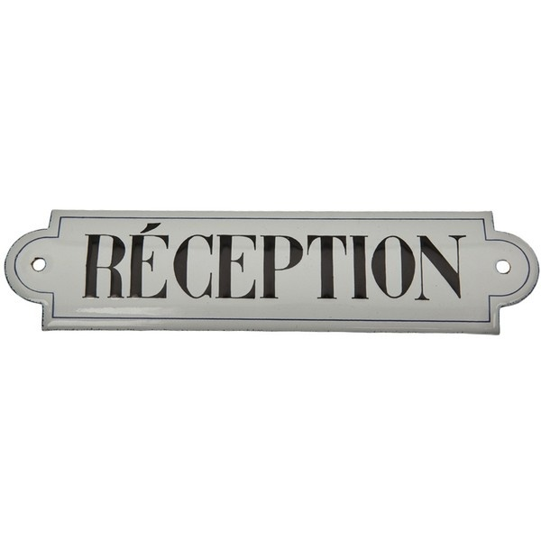 EMREP LARGE 'RECEPTION' SIGN ($4,225) ❤ liked on Polyvore