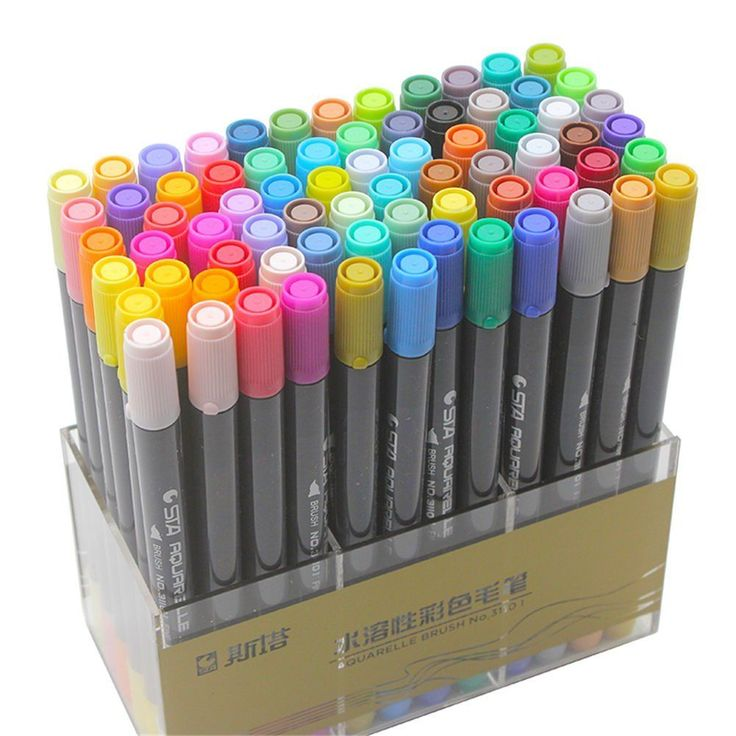 Details about 12/24/36/48/80 Colors STA Dual Tips Watercolor Fineliner Brush Marker Pen Set   – Bullet journal