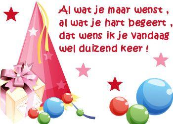 vrolijke verjaardagswens op Feest-Plaatjes.nl