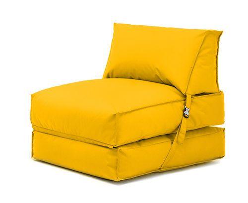 Yellow Bean Bag Z Bed Lounger Outdoor Waterproof Garden Children's Kids Chair