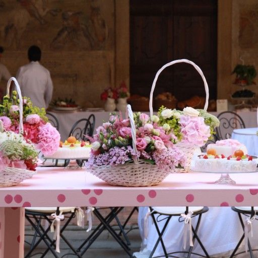 BATTESIMO AL CASTELLO #baptism #sweet #pink #party #cake #elisabettacardanievents #elisabettacardaniflowers