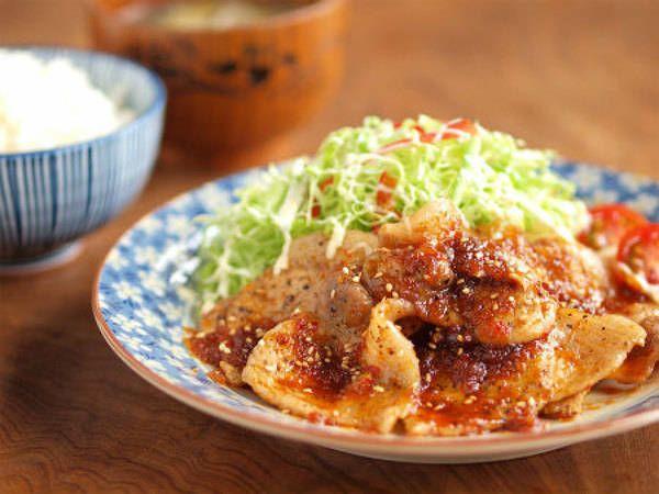 豆板醤でピリ辛がっつり豚の生姜焼き