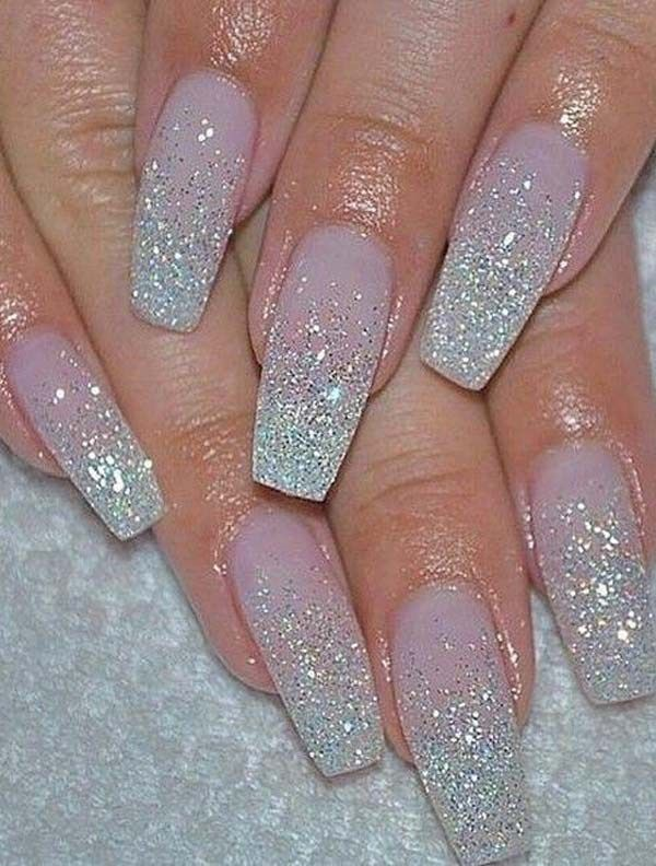 Gorgeous Glitter Nail Art Designs To Show Off In 2019 Nail Designs Glitter Pink Glitter Nails Baby Pink Nails Acrylic