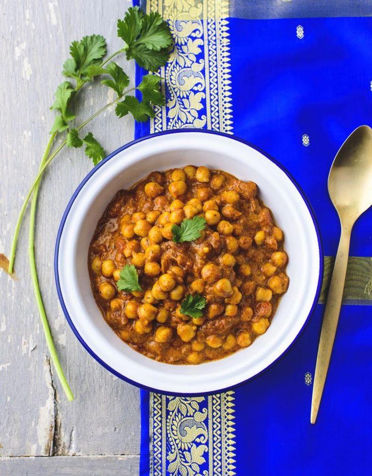 Curry de pois chiche au lait de coco {La recette des