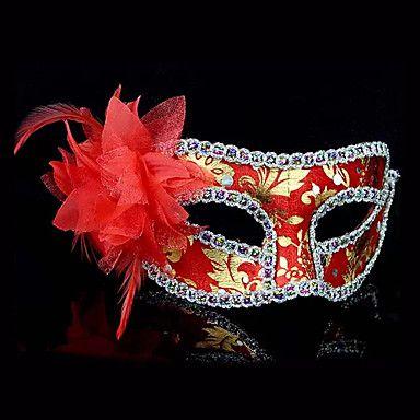 silver masks | halloween veer bloem mysterieuze kostuum partij masker (assorti kleur ...