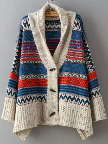Shop Multicolor Long Sleeve Tribal Print Sweater Coat online. SheIn offers Multicolor Long Sleeve Tribal Print Sweater Coat & more to fit your fashionable needs.