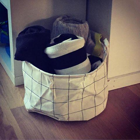 Fint billede fra kunde, der bruger opbevaringsposen fra House Doctor til tæpper.