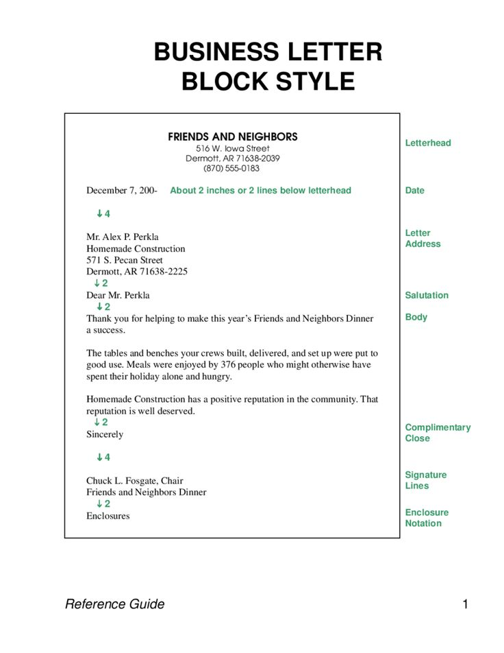 formal letter template how write business sample