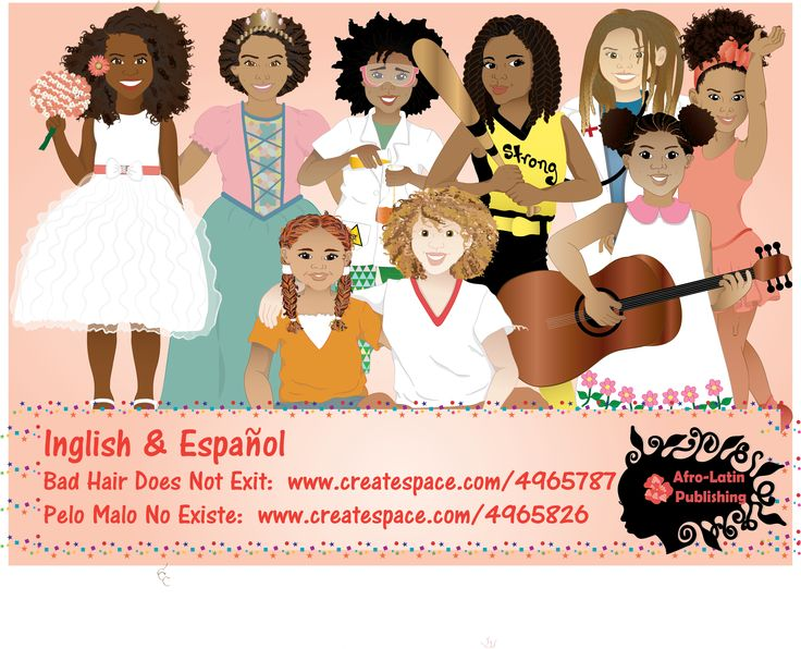 This book was created to empower little girls so they can embrace and love their beautiful natural hair. Fun illustrations were created to help describe different types of hair and hairstyles! Written by Sulma Arzu-Brown and illustrated by Isidra Sabio Published by Afro-Latin publishing https://www.facebook.com/AfroLatinPublishing and amazon  #nobadhair #blackpeople #naturalhair #blackgirls #badhairdoesntexit