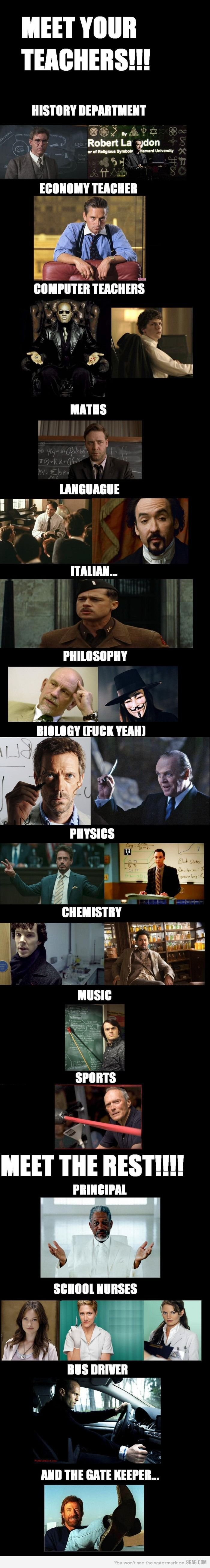 The School of AWESOME. Where do I enroll?! -------- 10th doctor needs to be physics teacher and rose be dinner lady
