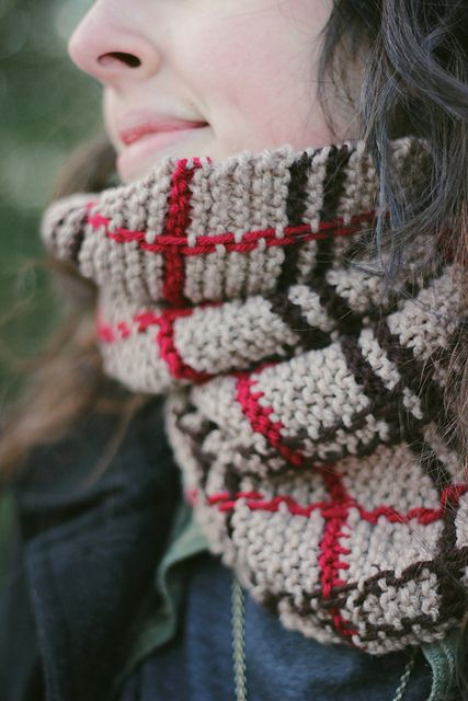 Ravelry: Folk Plaid Scarf pattern by Melody Maria Fulone
