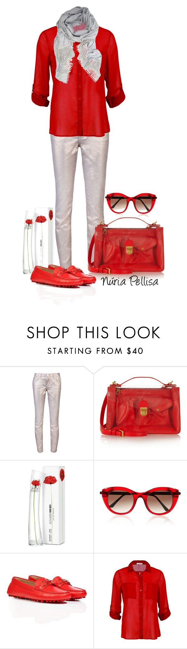 """The no heel contest"" by nuria-pellisa-salvado ❤ liked on Polyvore featuring Versace, Marc by Marc Jacobs, Kenzo, Thierry Lasry and Salvatore Ferragamo"