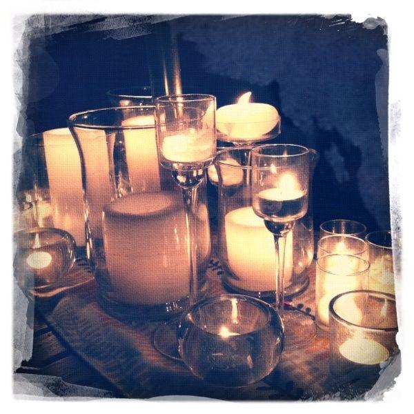 My backyard table set up  Candles  Pinterest