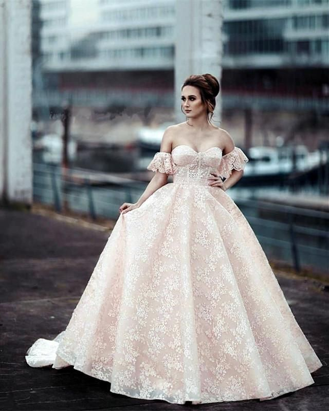 886badb77e Puffy Sleeves Sweetheart Ball Gowns Lace Quinceanera Dresses in 2019 ...