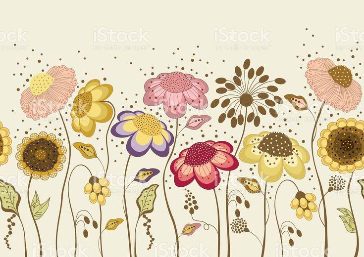 Абстрактный красочные цветы Сток Вектор Стоковая фотография