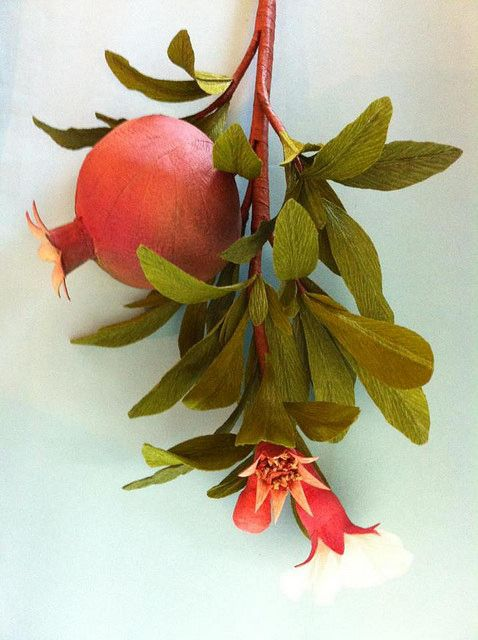 Surprise Ball Pomegranates (Crepe Paper) | Anandamayi Arnold