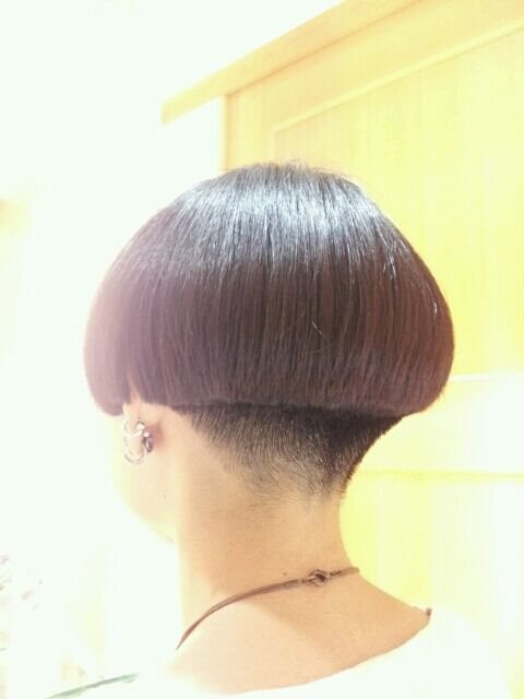 """Nothing says """"sissy"""" like a short bob cut above the earlobes... And if course shaved nape is mandatory for a boi!"""