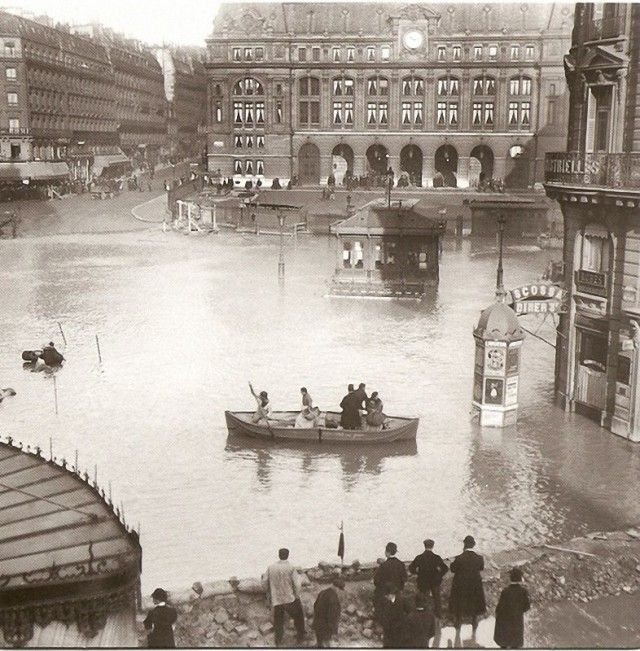 Flooding of the Seine ~ Gare de Saint-Lazare 1910