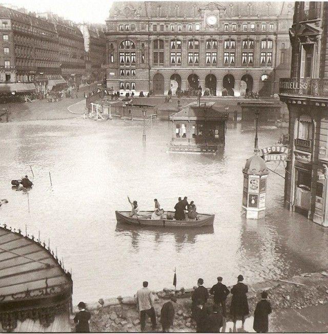 Flooding of the Seine ~ Gare de Saint-Lazare 1910