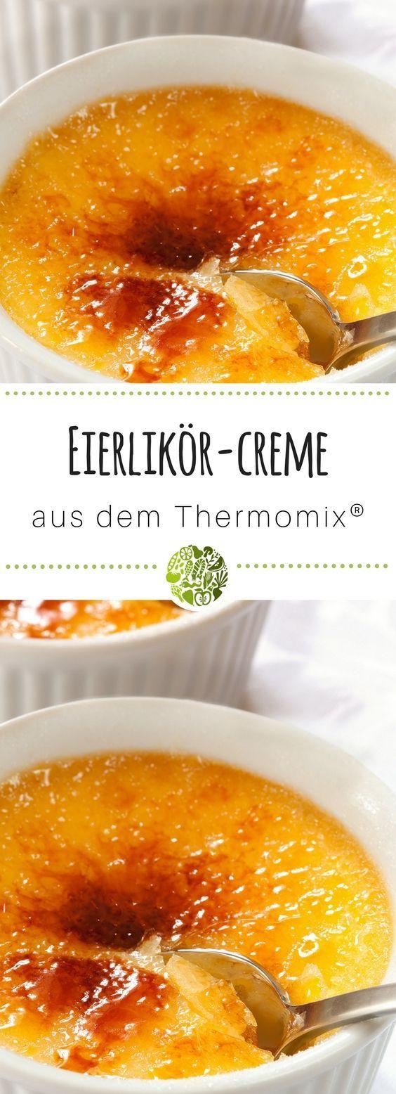 Mach das frühlingsfrische Eierlikör Crème brûlée aus dem Thermomix®️ bei der nächsten Party nach und begeistere Deine Gäste!