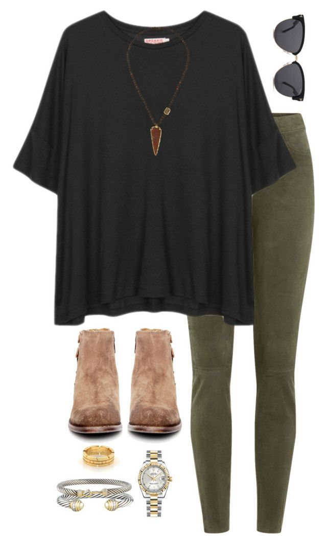 """""""bama vs clemson game ready"""" by daniellekenz ❤ liked on Polyvore featuring J Brand, H by Hudson, Organic by John Patrick, NEST Jewelry, Rolex, Cartier, David Yurman, Tom Ford, women's clothing and women"""