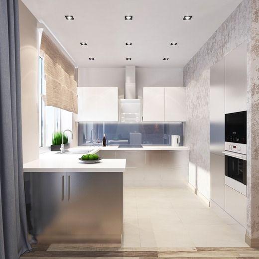 Квартира в стиле лофт. Кухня