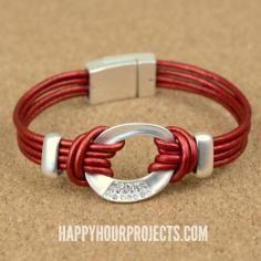 DIY Tutorial DIY Leather / DIY Leather Lanyard Bracelet - Bead&Cord                                                                                                                                                                                 More