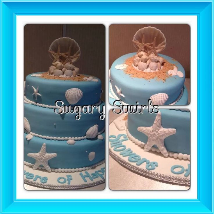 Beach Themed Bridal Shower Cake - red velour filled with my special twist of cream cheese buttercream filling